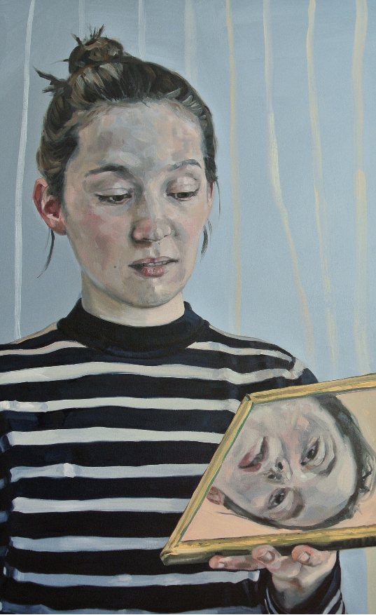 Remembering what you used to know - Portrait of a woman - Oil on Canvas 30 x 48 inches